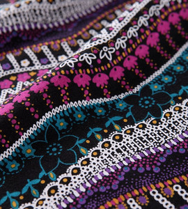printed polyester rayon spandex fabric